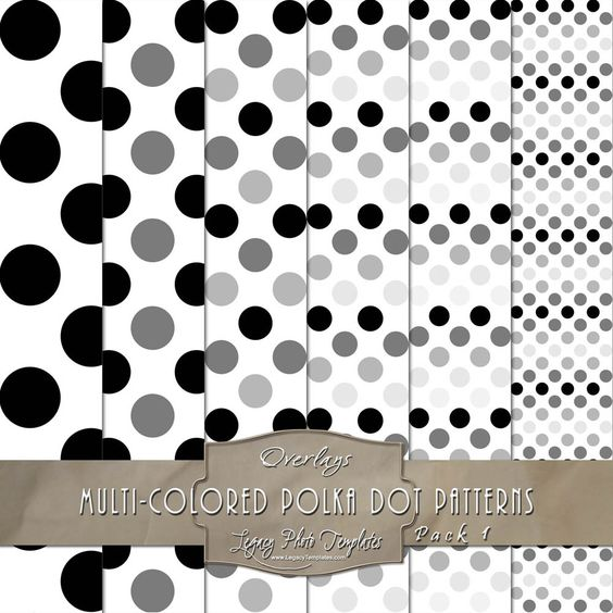 Create your own digital paper with your color picks using the pattern templates.  The 12x12 templates come in a PNG and PSD format. $7.50  #digital paper, #polka dots, #pattern, #DIY,  #scrapbooking