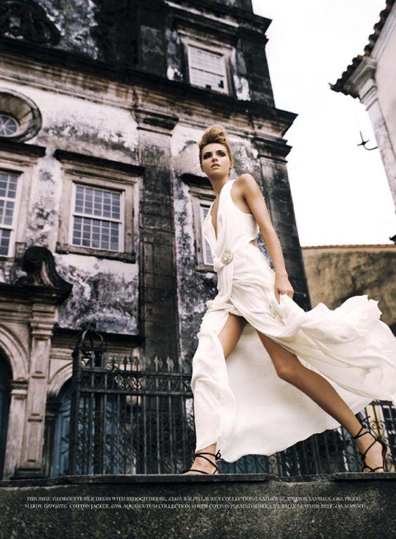 Spirited away | Valentina Zelyaeva | John Scarisbrick #photography | Harper's Bazaar UK June 2007