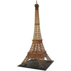 Elaborately Detailed Model of Eiffel Tower