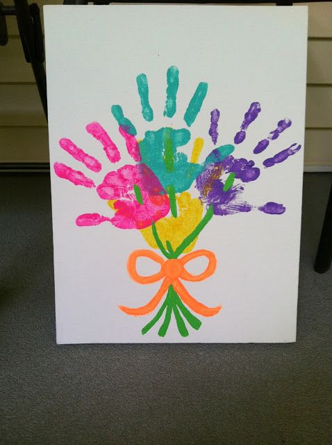 Nosso Espaço Educando: Lembrancinha dia das mães - Quadro feito com a pintura das mãozinhas.: