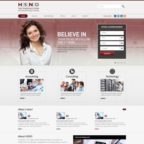 HSNO Website HOME Page Design