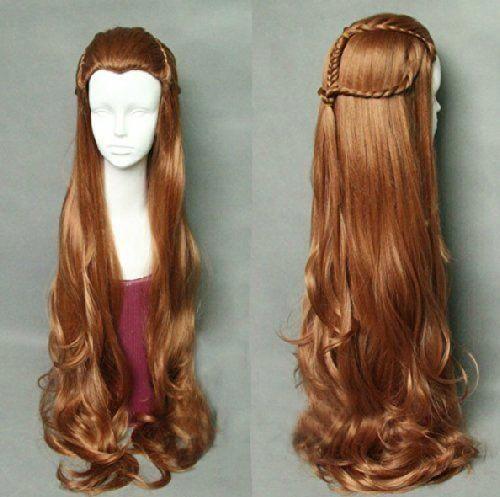 The Hobbit Tauriel Cosplay Costume Brownhair Elf Hair Cosplay Hair Cosplay Wigs