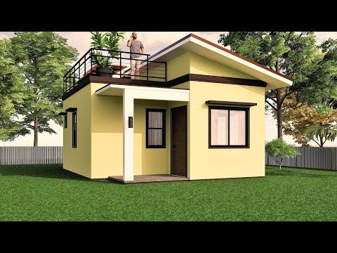 Small House Design With Roof Deck 38 Sqm Youtube Small House Design Small House Design Plans Small House Roof Design