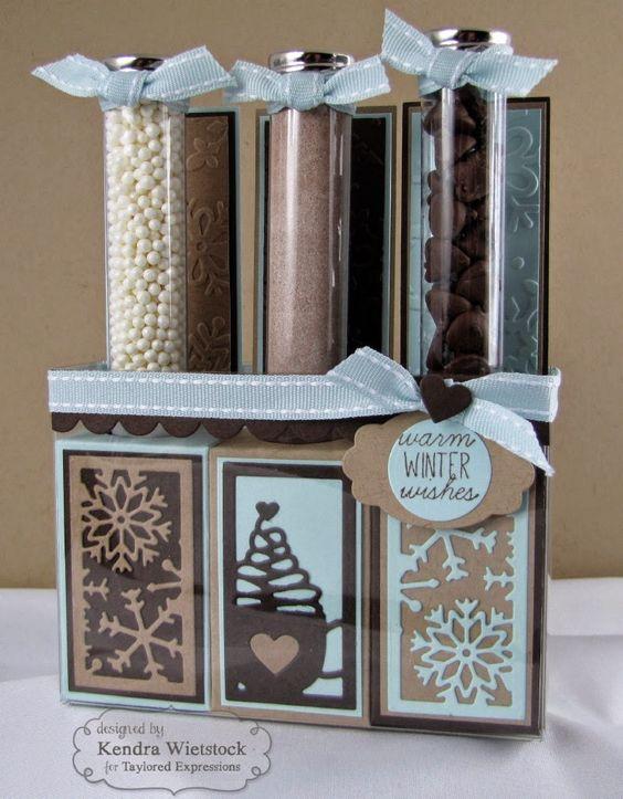 Kendra's Card Company: Test Tube Hot Chocolate kit