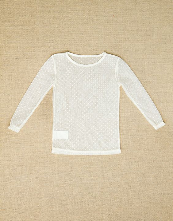 Persnickety Clothing - Basic Tee Cream Mesh Fall 2012