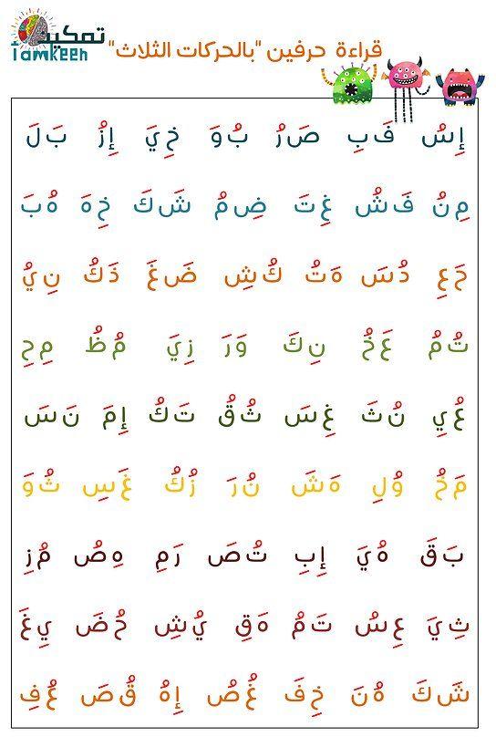 الحركات الثلاث الفتحة الضمة الكسرة Learning Arabic Arabic Books Math