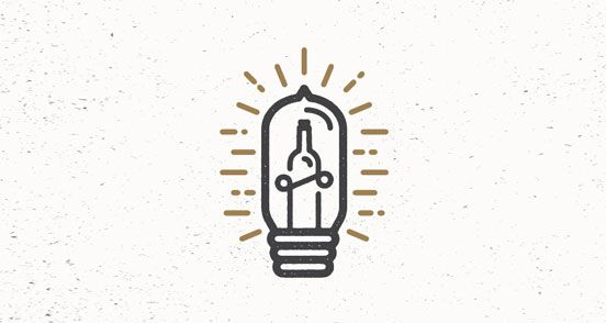 Illuminated Bottle | Logo Design | The Design Inspiration