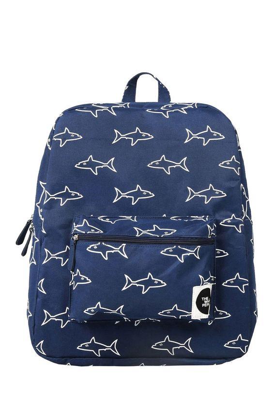 The WhitePepper Shark Canvas Backpack