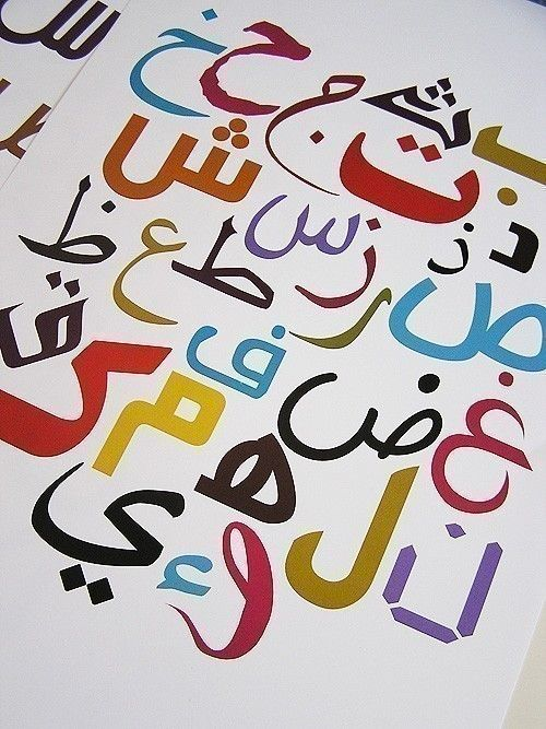 Playful Arabic Alphabet Poster by Waafia