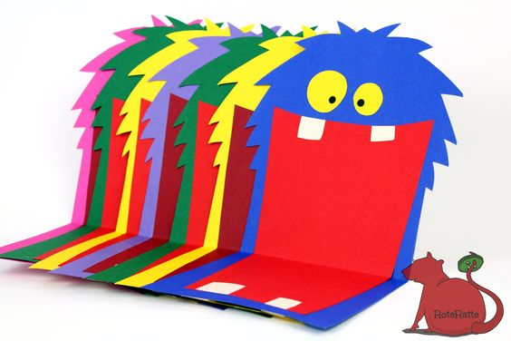 Bei uns steht wieder ein Kindergeburtstag an, yeah, und diesmal wurde ein Monster-Geburtstag gewünscht. Alles klar, Mama bastelt die passenden Einladungskarten =) In den geöffneten Mund kommt noch...