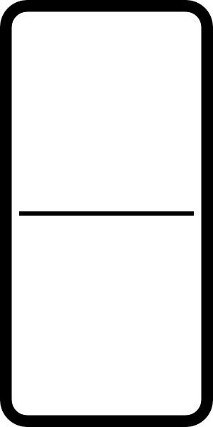 Blank blank domino | Blank Domino clip art/meaning:That Which is ...
