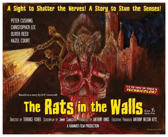 Poster for fictitious Rats in the Walls Movie HP Lovecraft - dr livingstone i presume movie