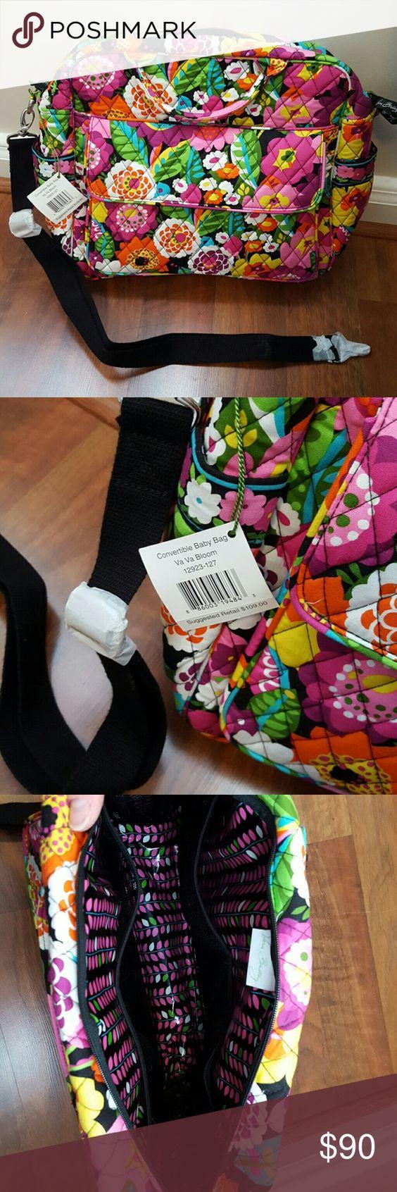 NWT Vera Bradley convertible diaper bag Shoulder strap   short handles 3d41e55ce52e4