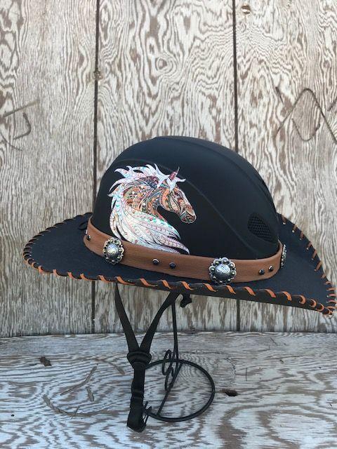 Helmet Hat Hellhat Cowboy Hat Helmet Helmet Hat Hats Black Cowboy Hat