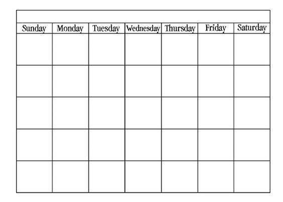 Blank calendar template   calendarprintablehub/calendar - free blank excel spreadsheet templates