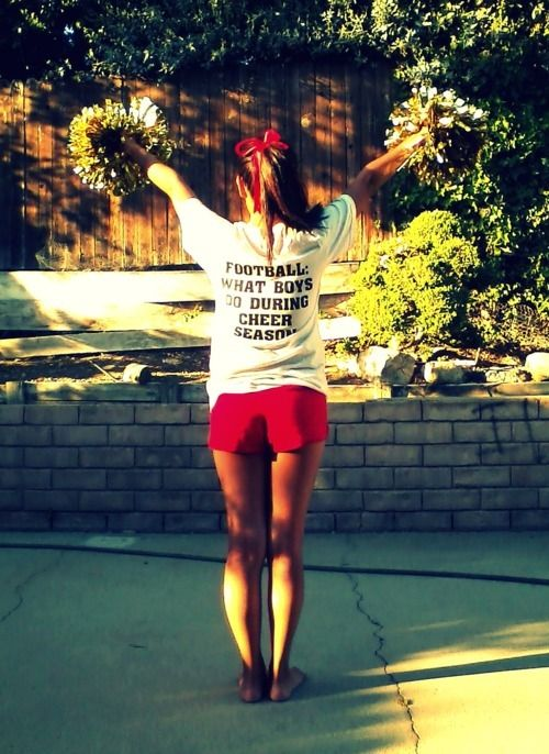 this would be so cute for my cheerleaders!: