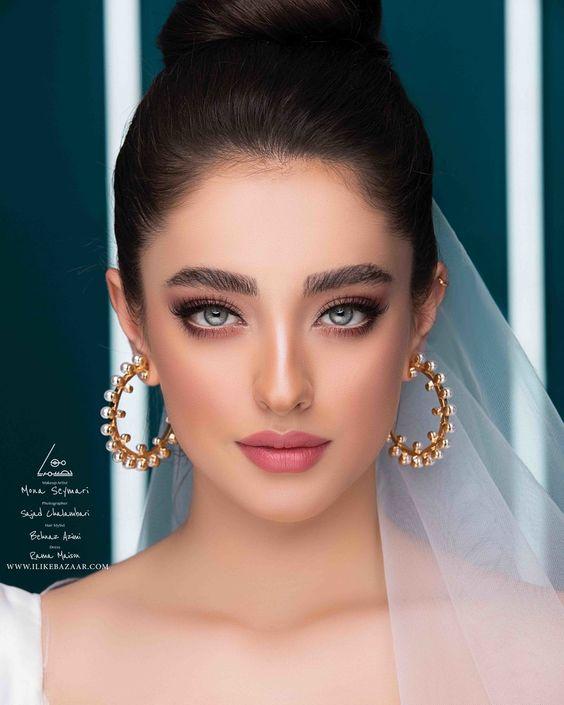کاری از مونا سیمری میکاپ عروس