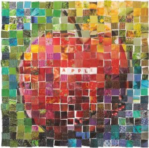 Happy Friday! DAY 4-(1/4/13). Today's Spondylitis apple of the day is called Mosaic love :))))) #Enjoy! #Repin.....Check out the artist's blog http://artappleaday.com/wordpress