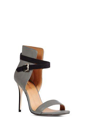 Grey heel with black strap by JustFab