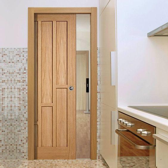 Single Pocket Coventry Contemporary Oak Panel Door