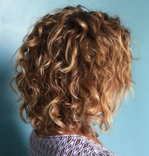 18+ Curly bob long trends