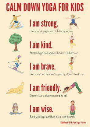 calm down yoga routine for kids printable  calm down