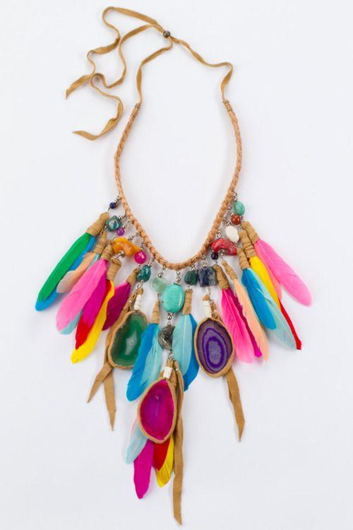 Mixed materials necklace
