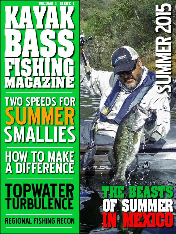 Kayak bass fishing magazine summer 2015 the o 39 jays for Bass fishing magazine