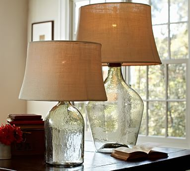 Clift Glass Table Lamp Base Clear An Oversized Wine Jug