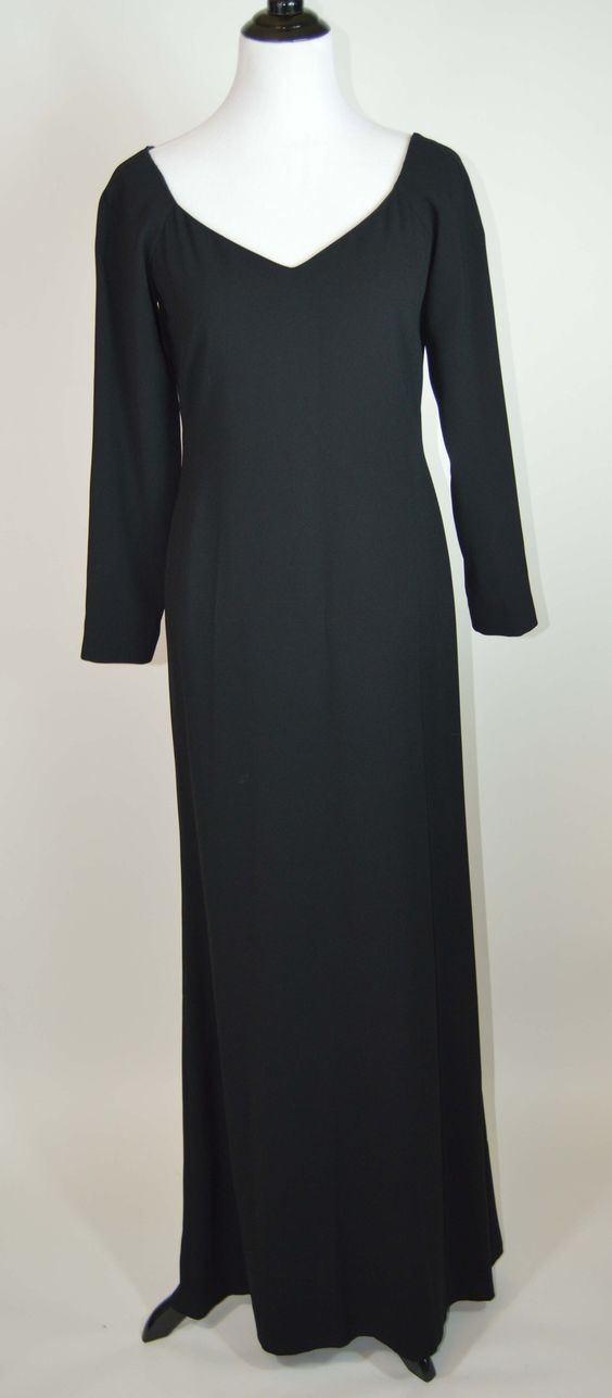 Black Ellen Tracy Formal Party Ball Cocktail Evening Gown Dress - Size 6