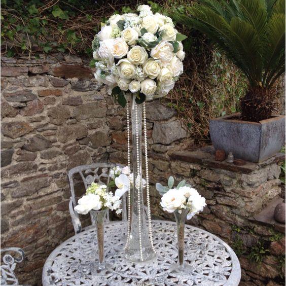 Flourish wedding centrepiece to hire devon