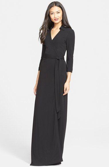 Diane von Furstenberg 'Abigail' Maxi Wrap Dress #Evening #Dresses #Gowns #Fashion #Style #NYE2014