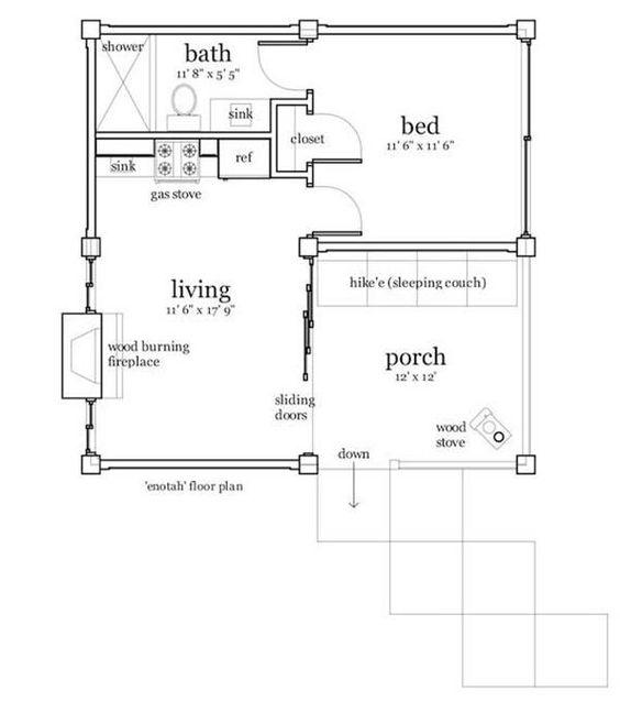 Plan W2225sl One Story Garage Apartment: 456 Sq Ft, 25'x25'