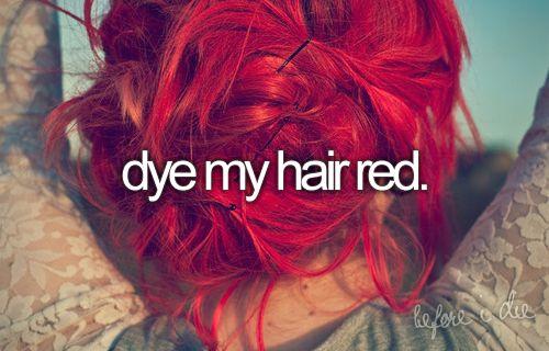 dye my hair red