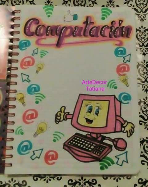 Portada Carátulas Para Cuadernos Portadas De Cuadernos Y