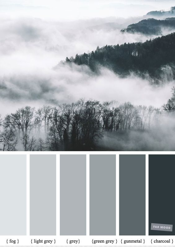 Foggy - Smokey color palette #color #colorpalette #grey