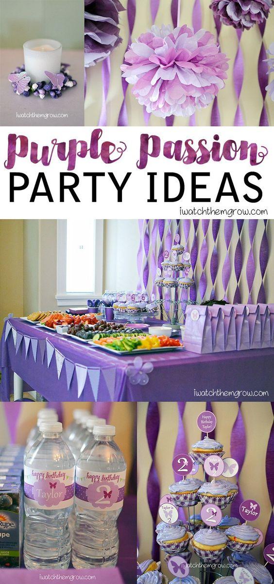 Purple Birthday Party - I Watch Them Grow