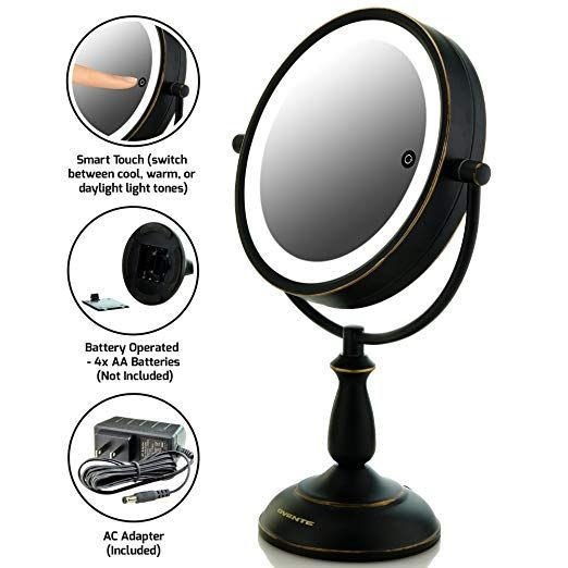 Ovente 7 5 Lighted Tabletop Vanity Mirror Battery Or Cord