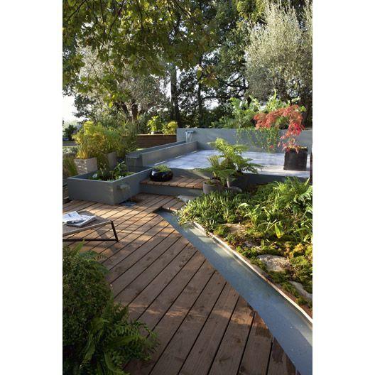 Planche Douglas En Bois Marron Naterial L 250 X L 14 Cm X Ep 27 Mm Terrasse Jardin Jardins Et Relooking De Patio