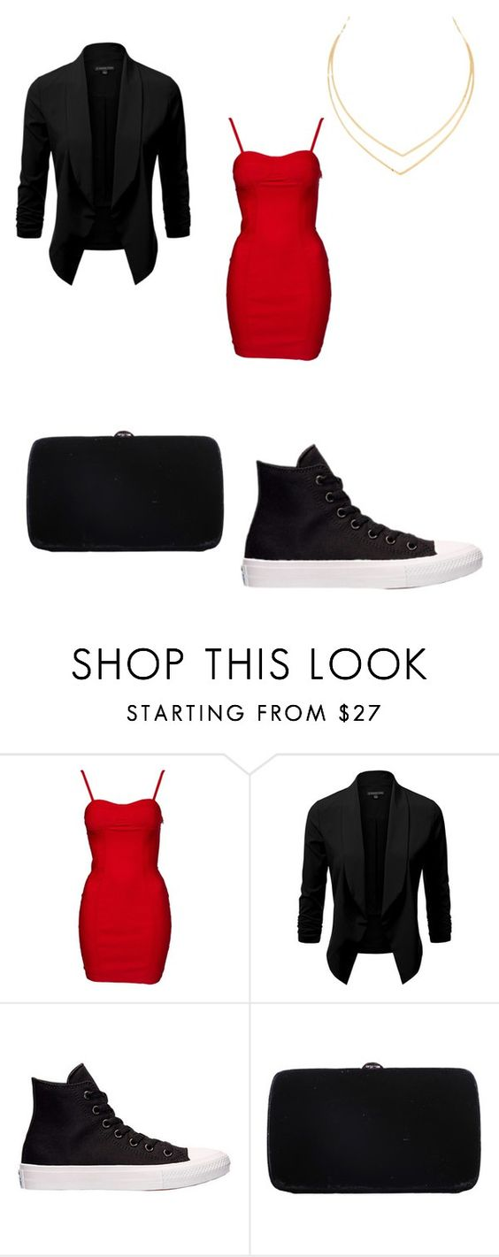 """Untitled #810"" by karinacabrera ❤ liked on Polyvore featuring Converse, Sergio Rossi and Lana"