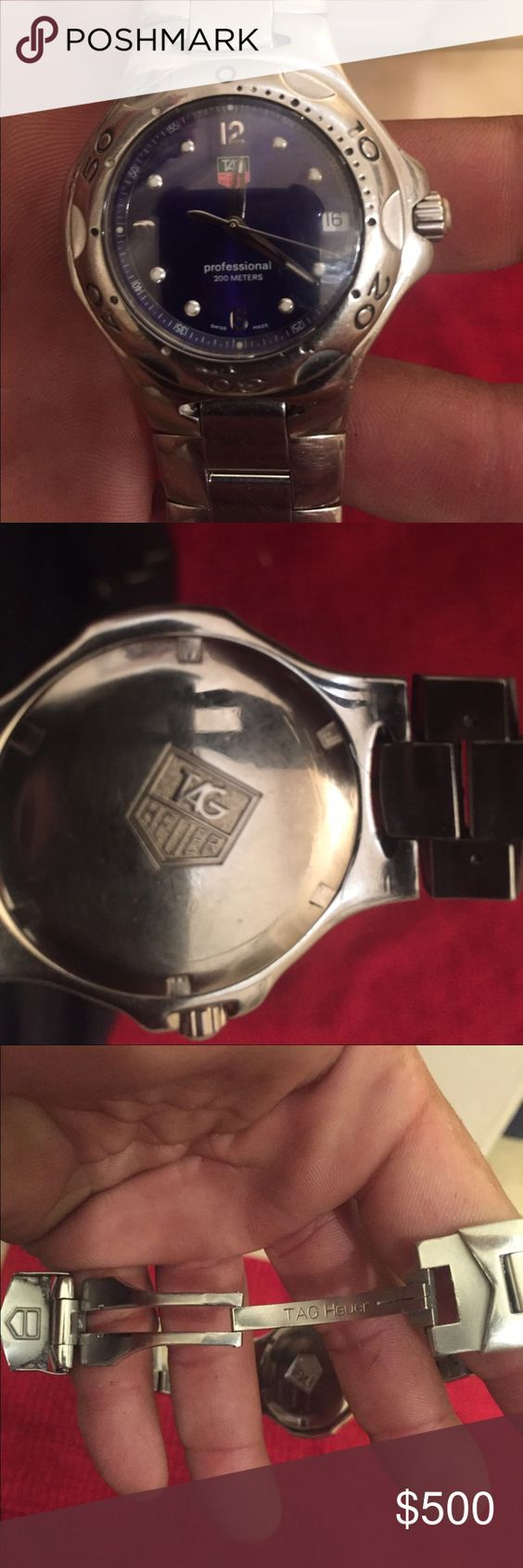 Tag Heuer Unisex Professional 200 meters watch. Vintage Tag silver watch, worn but in great condition. The sapphire crystal is flawless. Tag Heuer Jewelry
