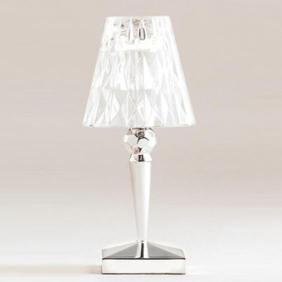 type table lamp designer strong ferruccio laviani material pmma transparent dyed or metallized structure pmma transparent dyed or metallized battery table lamps ferruccio laviani