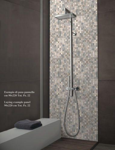 Mosaic-Mosaico-Doccia-Bathroom  Mosaico  Pinterest