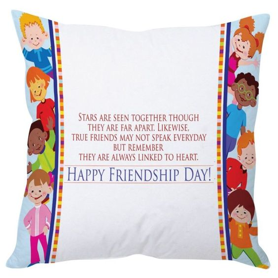 Happy Friendship Day Multicolor Cushion Cover  FabFurnish.com