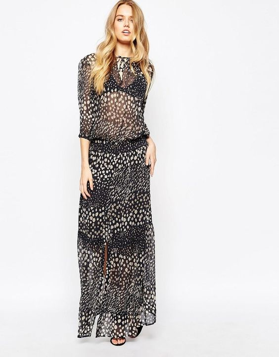 BA&SH BA&SH Illy Maxi Dress In Dots Print