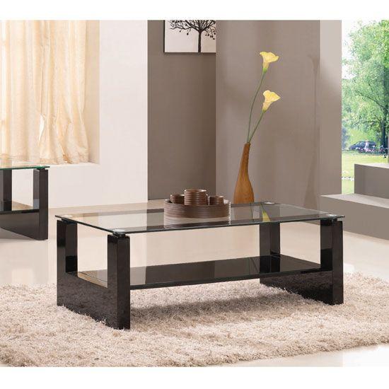 Rio Hi-Gloss Black Coffee Table