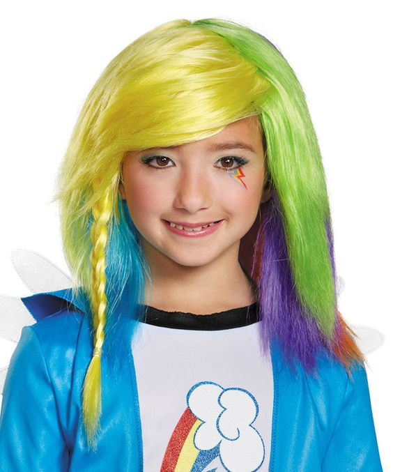Look at this Rainbow Dash Equestria Wig - Kids on #zulily today!