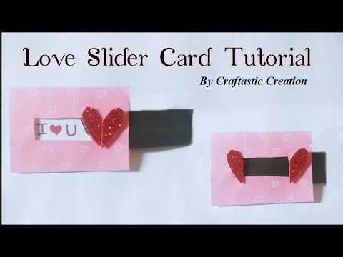 Loveslidercard Explosionboxcard Love Slider Card Tutorial By Craftastic Creation Youtube Slider Cards Card Tutorial Cards