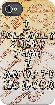 I Solemnly Swear That I am Up To No Good by Rosalind5 Marauder's Map iPhone cup