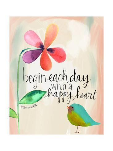 Art Print: Happy Heart by Katie Doucette : 24x18in